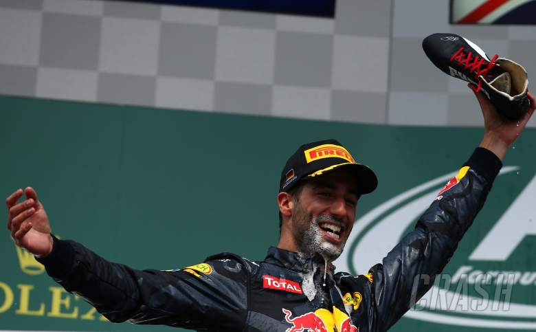 Ricciardo explains 'Shoey' as Rossi joins in