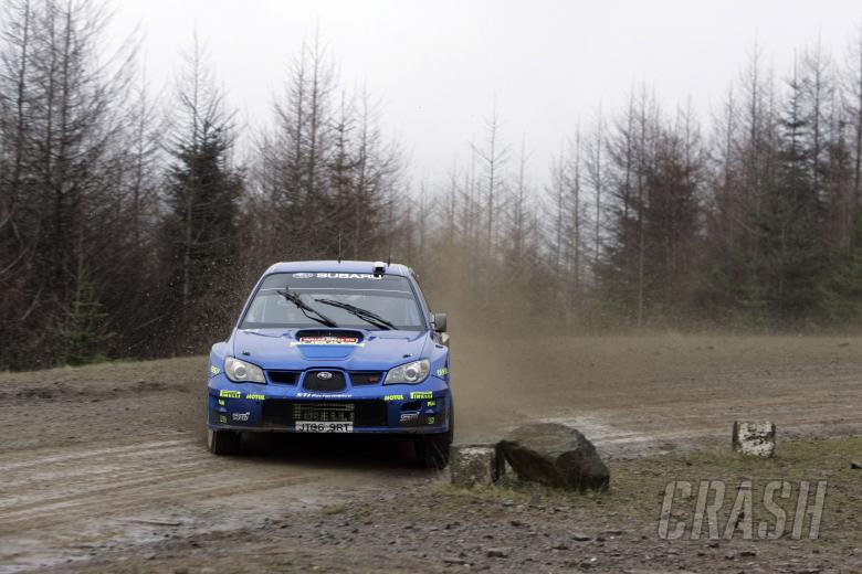 Petter Solberg (N) - Philip Mills (GBR), Subaru WRT Impreza WRC. Wales Rally GB, 1st-3rd December 20