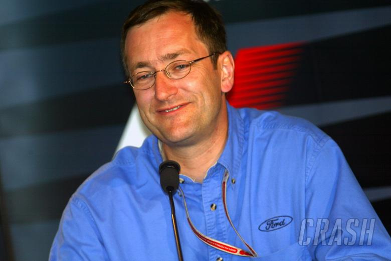 Jaguar`s Tony Purnellat the Friday FIA press conference at Indianapolis
