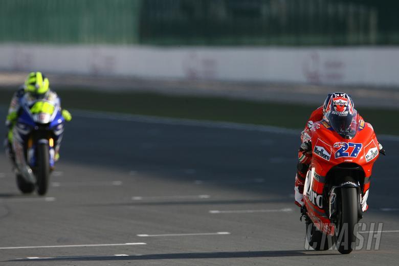 Stoner, Rossi, Qatar MotoGP Race 2007