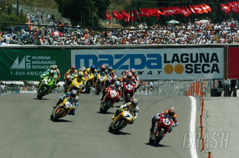 Start, WSBK Race 1 Laguna Seca, 2004