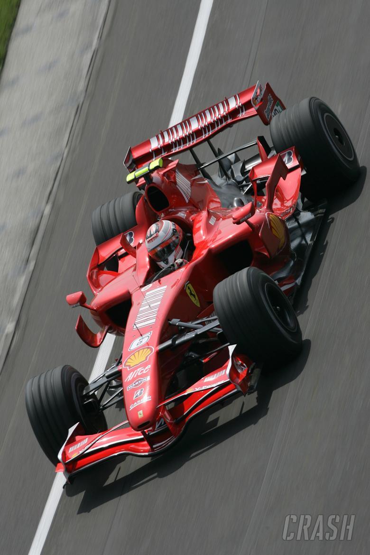 Kimi Raikkonen (FIN) Ferrari F2007, Indianapolis F1, USA, 2007