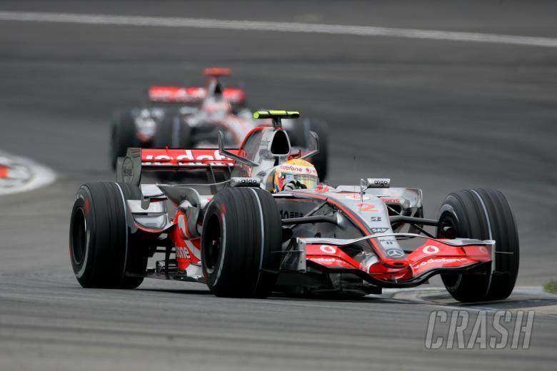 Lewis Hamilton (GBR) McLaren MP4/22, Indianapolis F1, USA, 2007