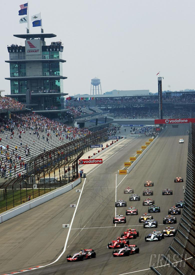 Start, Indianapolis F1, USA, 2007