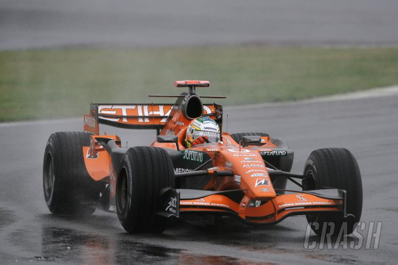 Adrian Sutil (GER) Etihad Aldar Spyker Formula One Team F8-V11, Japanese F1, Fuji, 28-30th, Septembe