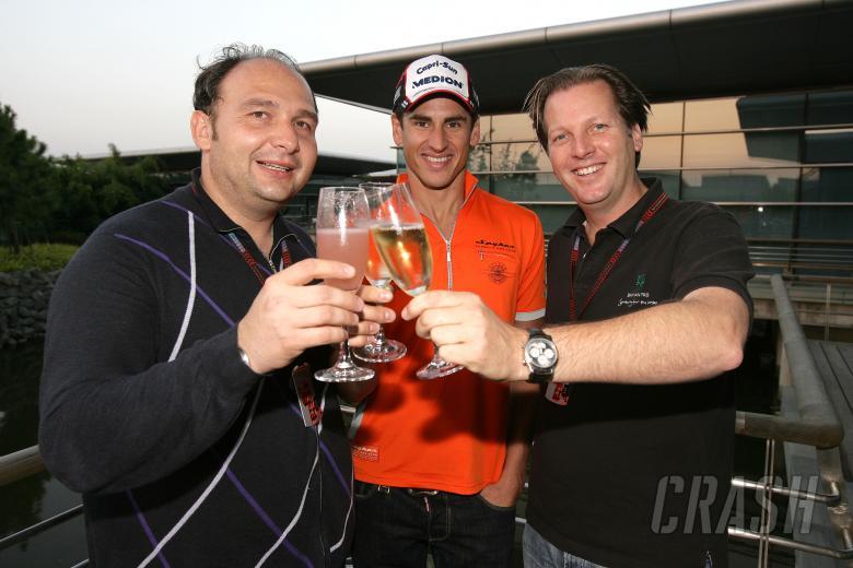 Colin Kolles, Team Principal & Managing Director Etihad Aldar Spyker Formula One Team, Adrian Sutil