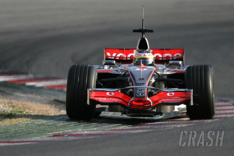Pedro De La Rosa (SPA) McLaren MP4/22, Barcelona F1 Test, 13-15th, November, 2007