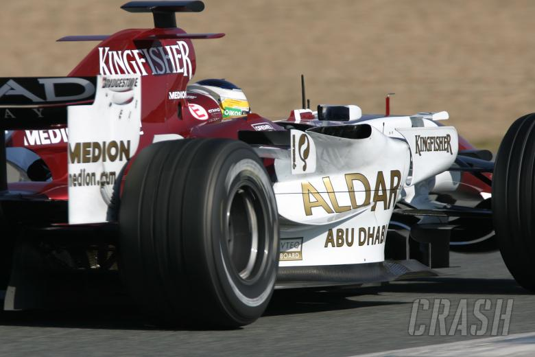 Giancarlo Fisichella (ITA) Force India F1, Jerez F1 Test, 4-7th, December, 2007