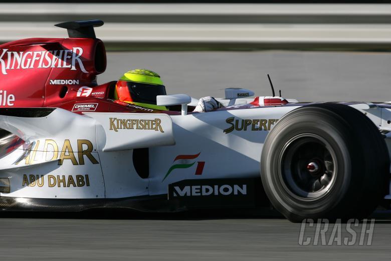 Ralf Schumacher (GER) Force India F1, Jerez F1 Test, 4-7th, December, 2007