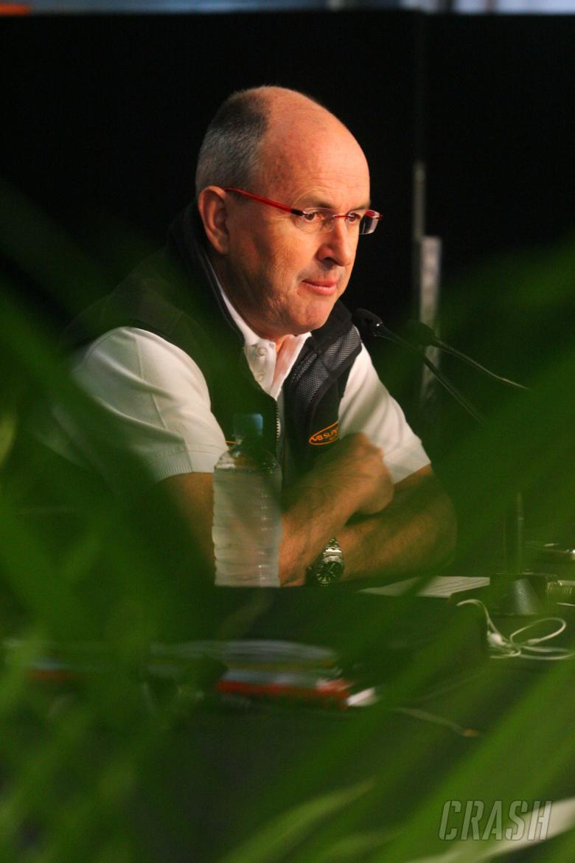 Tony Cochrane, Chairman V8 Supercars, press conference regarding Green fuel and grid sizesV8 Superca