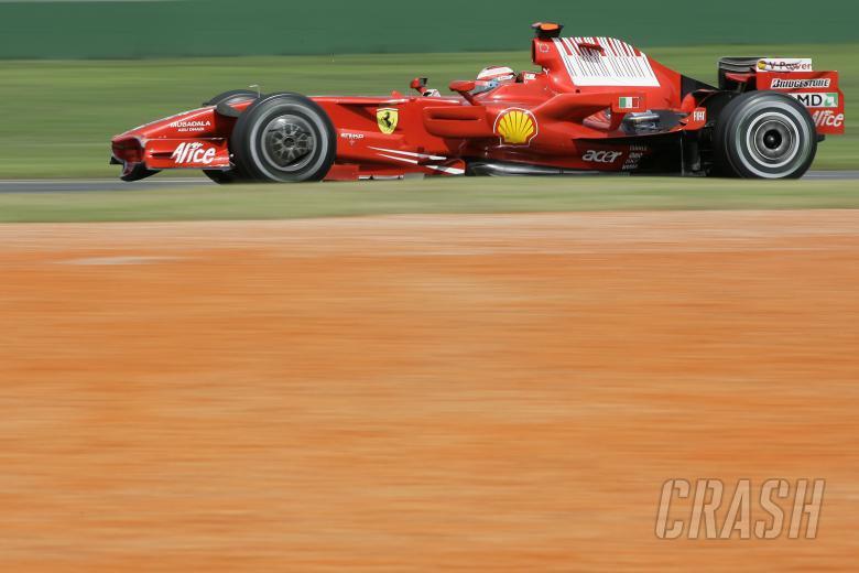 Kimi Raikkonen (FIN) Ferrari F2008, Australian F1 Grand Prix, Albert Park, Melbourne, 14-16th, March