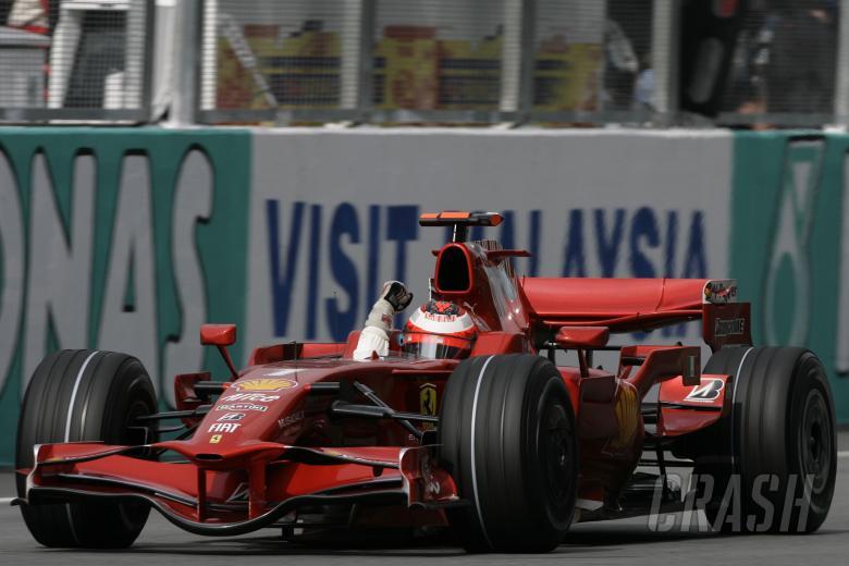 Kimi Raikkonen (FIN) Ferrari F2008 Wins, Malaysian F1 Grand Prix, Sepang, Kuala Lumpar, 21st-23rd, M