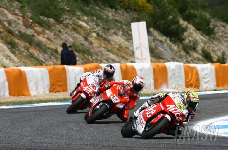 Elias, Melandri, Guintoli, Portuguese MotoGP 2008