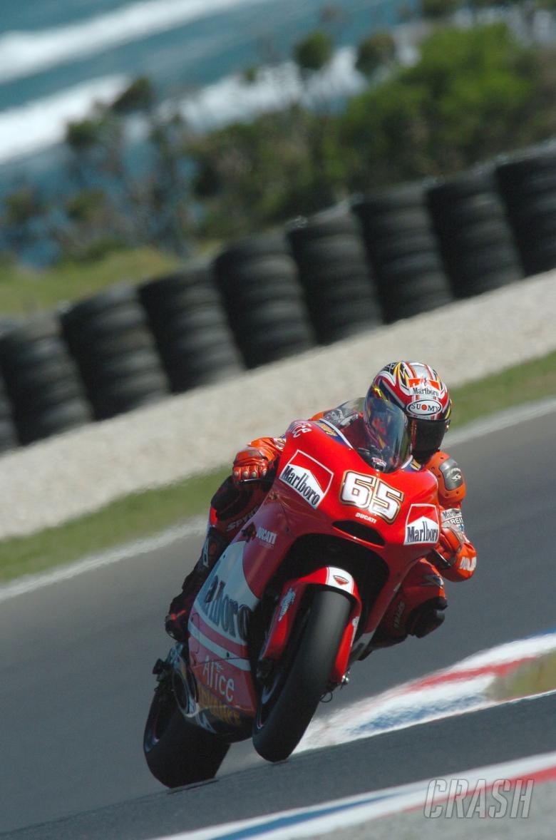 Capirossi, Australian MotoGP, 2004