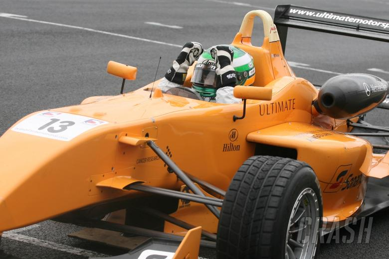 Michael Devaney (IRL) - Ultimate Motorsport Mygale Mercedes breaks down on the last lap