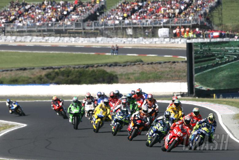 Start, Australian MotoGP, 2004