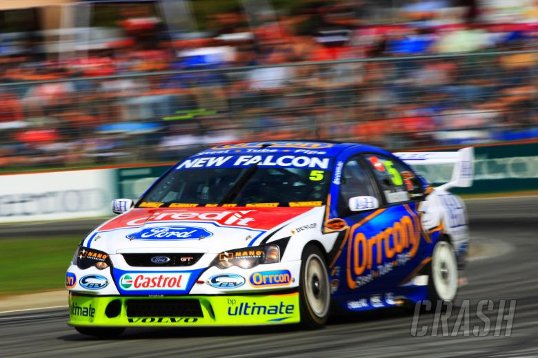 Mark Winterbottom, (Aust) Orrcon FPR Ford won all three races to win the roundBigpond 400 rd 4 V8 Su