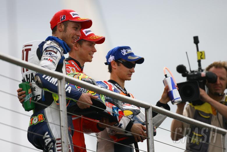 Rossi, Stoner, Pedrosa, British MotoGP 2008