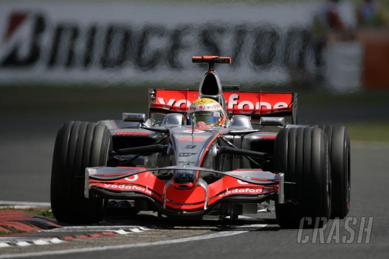Lewis Hamilton (GBR) McLaren MP4-23, British F1, Silverstone, 4-6th, July, 2008