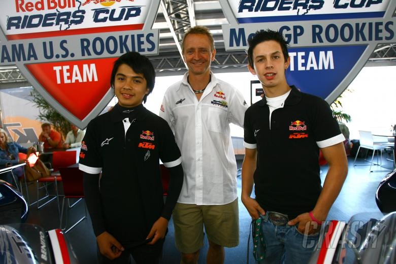 Red Bull Rookies Sollis, Schwantz and JD Beach, USA MotoGP 2008