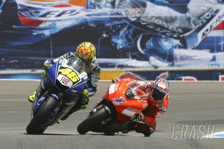 Rossi, Stoner, USA MotoGP 2008