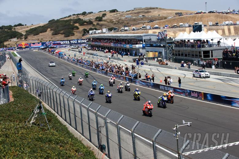 Race start, US MotoGP 2008