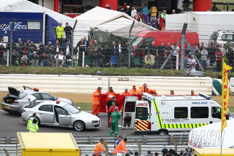 Jones accident, Ambulance, British WSS Race 2008