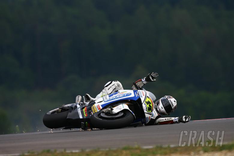 De Puniet crash, Czech MotoGP 2008