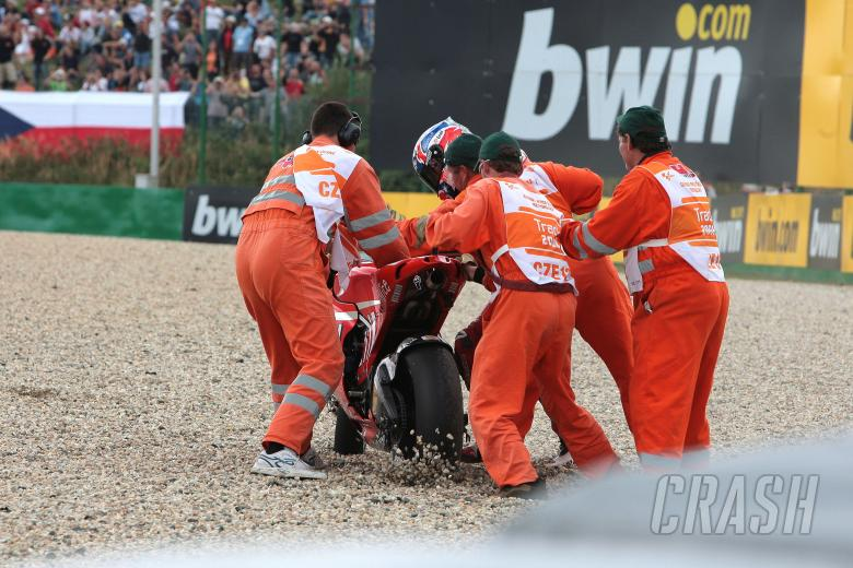 Stoner crash, Czech MotoGP 2008