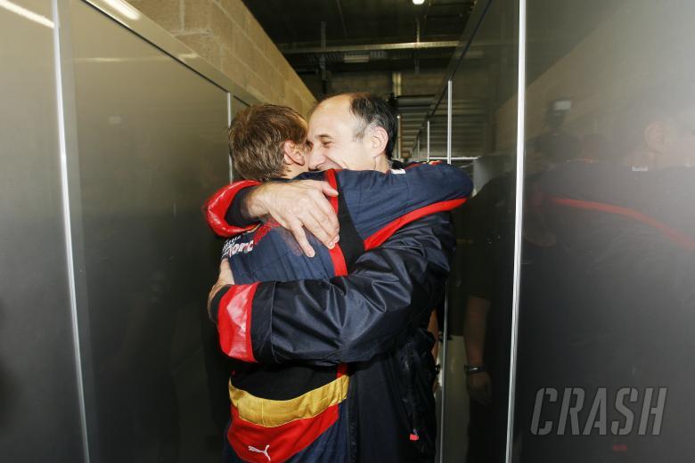 Sebastian Vettel (GER) Toro Rosso STR03, Franz Tost (AUT) Red Bull Sporting Director, Belgian F1 Gra