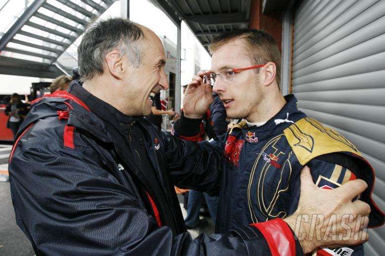 Franz Tost (AUT) Red Bull Sporting Director, Sebastien Bourdais (FRA), Toro Rosso STRO3, Belgian F1