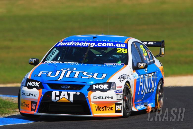 Jason Bright & Adam Macrow (Aust) Fujitsu Britek Ford L& H 500, Rd 9 V8 Supercars Phillip Island