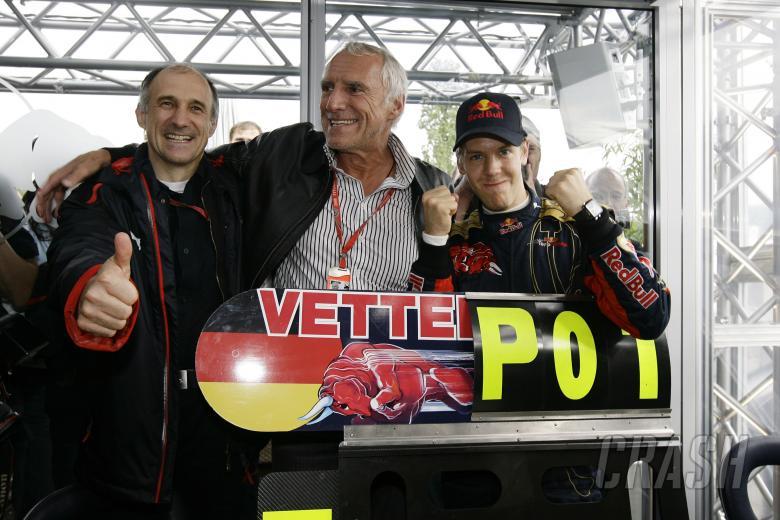 Franz Tost (AUT) Red Bull Sporting Director, Dietrich Mateschitz (AUT) Red Bull CEO, Sebastian Vette