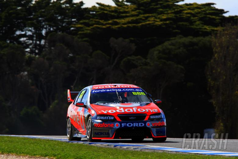Craig Lowndes, Jamie Whincup (aust) Team Vodafone 888 Ford L and H 500, Rd 9 V8 Supercars Philli