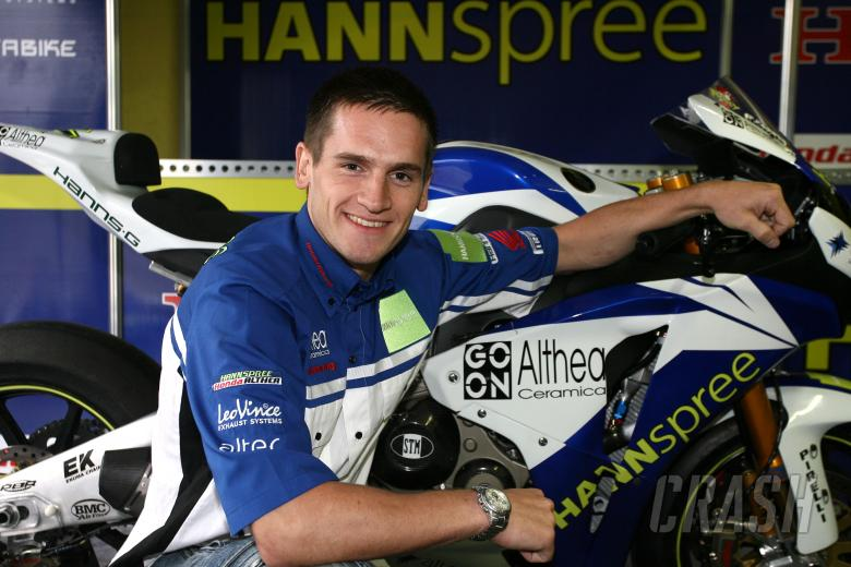 Hill, signed for Altea Honda for 2009 WSBK, Vallelunga WSBK 2008