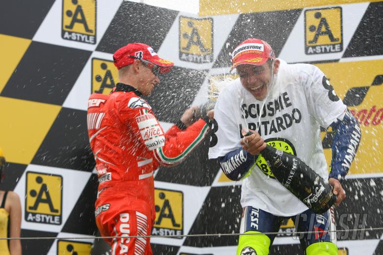 Stoner, Rossi, Japanese MotoGP 2008