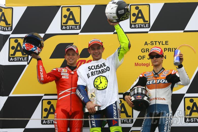 Stoner, Rossi Pedrosa, Japanese MotoGP 2008
