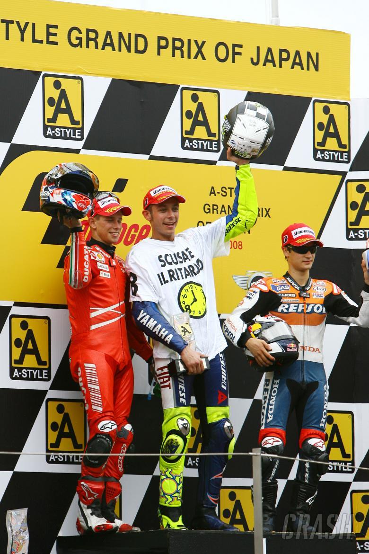 Stoner, Rossi, Pedrosa, Japanese MotoGP Race 2008