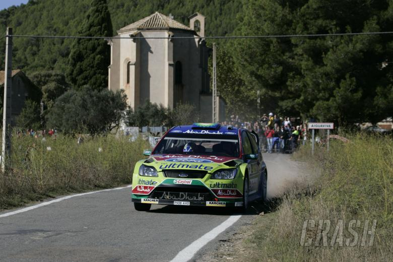 Francois Duval (BEL) Patrick Pivato (FRA), Ford Focus RS WRC07, BP Ford Abu Dhabi World Rally Team