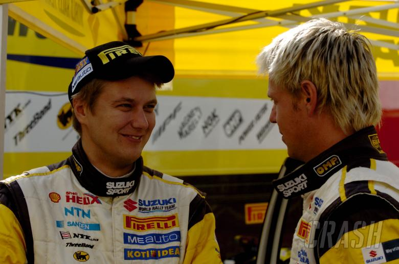 Toni Gardemeister (FIN) and Per-Gunnar Andersson (SUE), Suzuki SX4, Suzuki World Rally Team, Suzuki