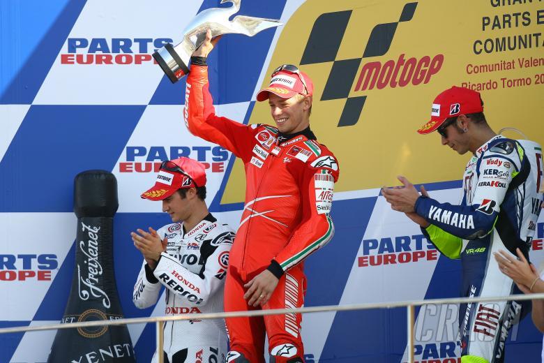 Stoner, Rossi, Pedrosa, Valencia MotoGP 2008