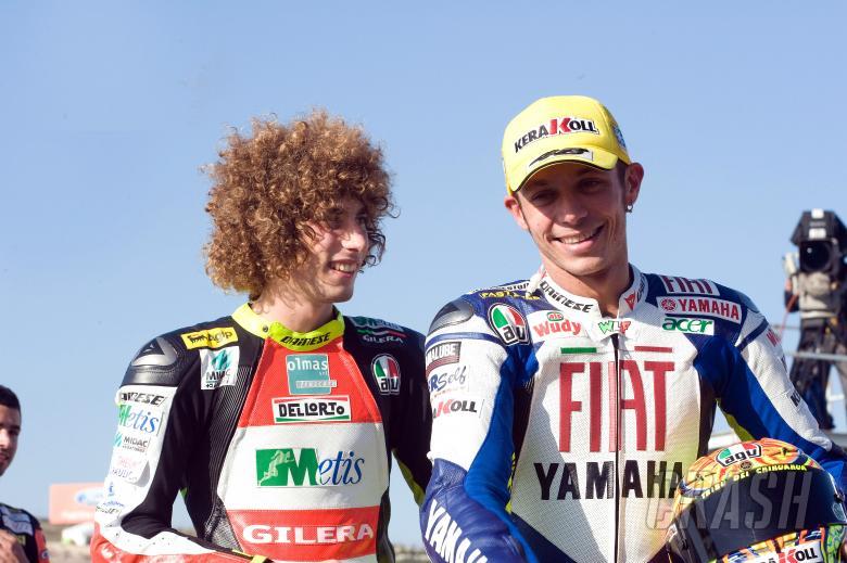 Simoncelli and Rossi, Valencia MotoGP 2008