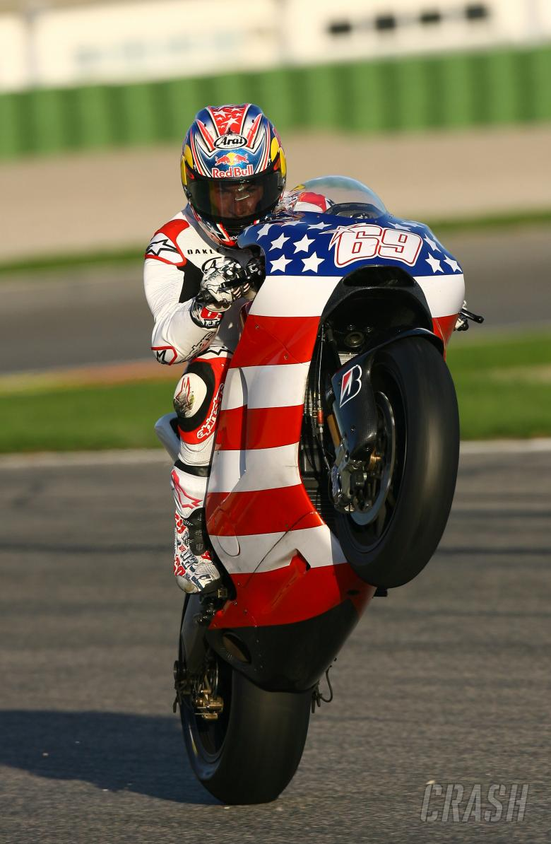 Hayden, Valencia MotoGP Tests 2008
