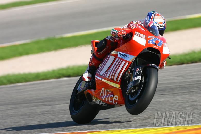 Stoner, Valencia MotoGP Tests 2008