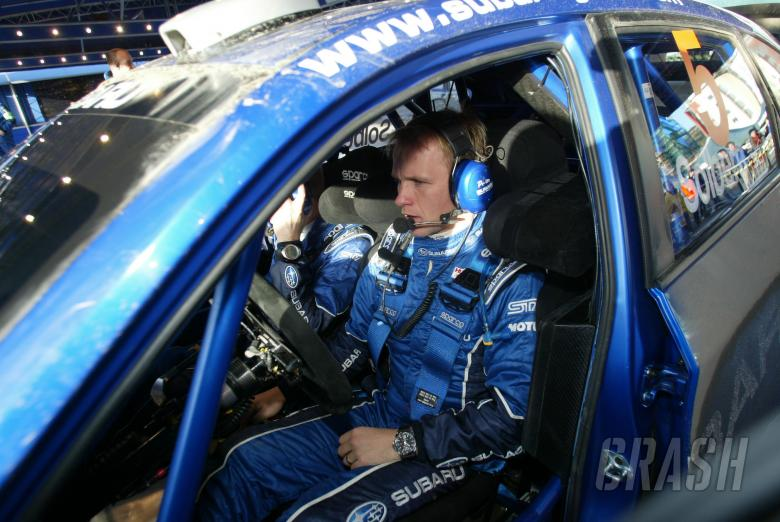 Petter Solberg (N) Philip Mills (GB) Subaru Impreza WRC 08, Subaru World Rally Team