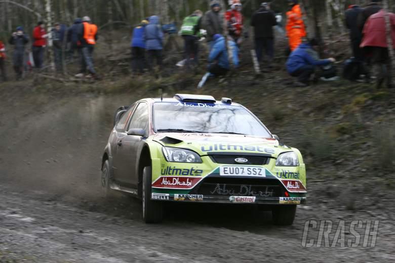 Mikko Hirvonen (FIN) Jarmo Lehtinen (FIN) Ford Focus RS WRC07, BP Ford Abu Dhabi WRT