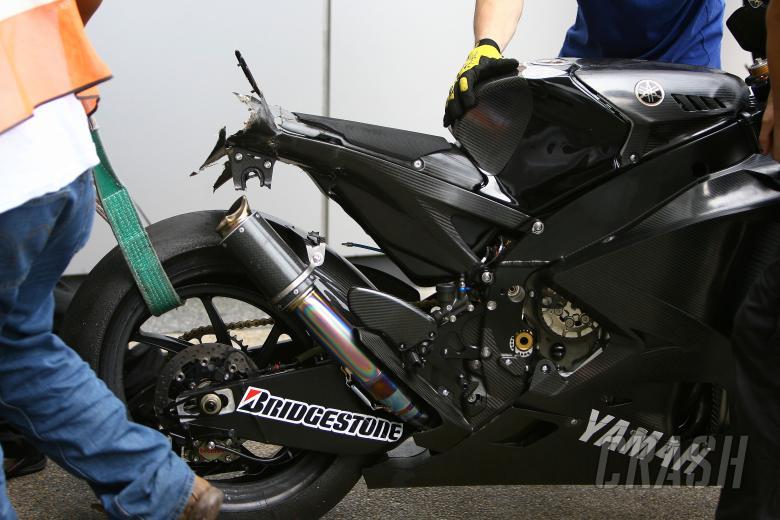 Toselands crashed bike, Sepang MotoGP Test 2008