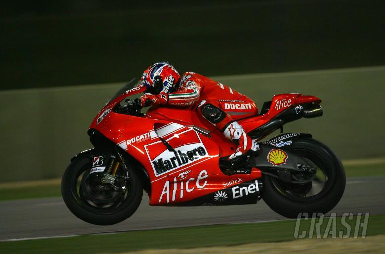 Stoner, Qatar MotoGP tests 2009