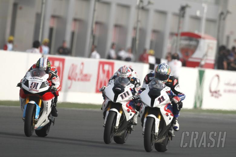 Haslam, Xaus, Qatar WSBK Race 2 2009