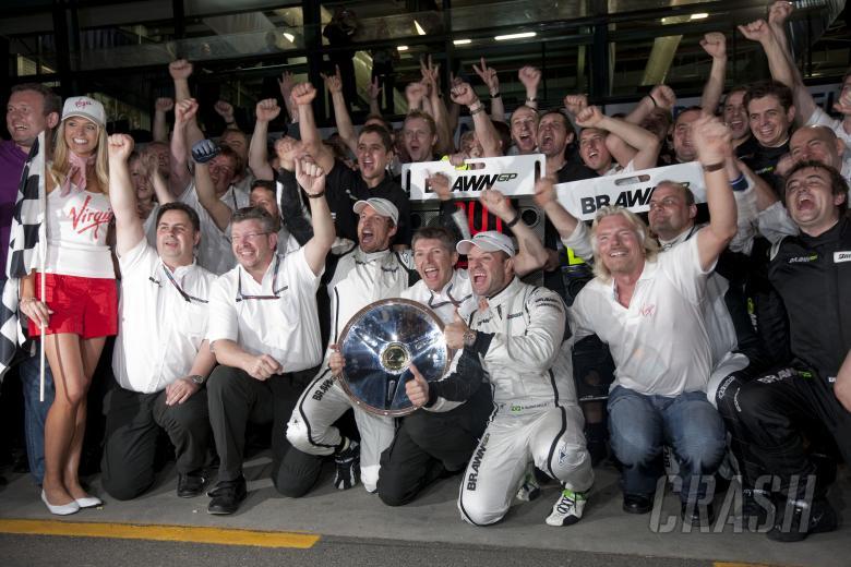 BrawnGP Celebrate Maiden Win, Australian F1 Grand Prix, Albert Park, Melbourne, 27-29th, March, 2009